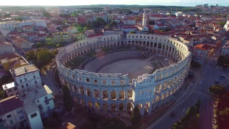 Stunning-aerial-view-of-the-remarkable-Roman-amphitheater-in-Pula-Croatia-2