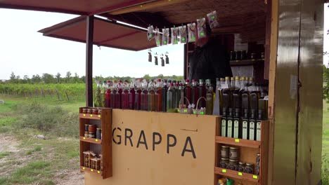 An-outdoor-stand-sells-grappa-an-alcoholic-drink-along-the-roadside-in-Croatia-1