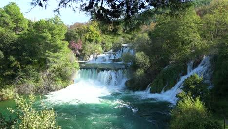 Beautiful-waterfalls-flow-through-the-mountains-of-Croatia-1
