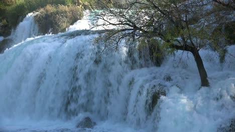 Beautiful-raging-waterfalls-flow-through-the-mountains-of-Croatia-2