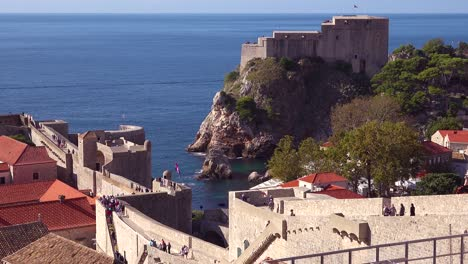Beautiful-view-over-the-bay-of-the-old-city-of-Dubrovnik-Croatia