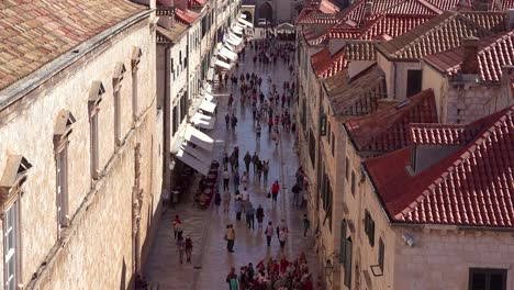 Beautiful-view-over-the-skyline-and-main-street-of-the-old-city-of-Dubrovnik-Croatia-1