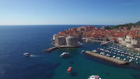 Aerial-view-over-the-old-city-of-Dubrovnik-Croatia