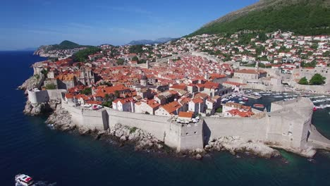 Aerial-view-over-the-old-city-of-Dubrovnik-Croatia-1