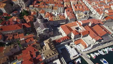 Aerial-tilt-up-view-over-the-old-city-of-Dubrovnik-Croatia