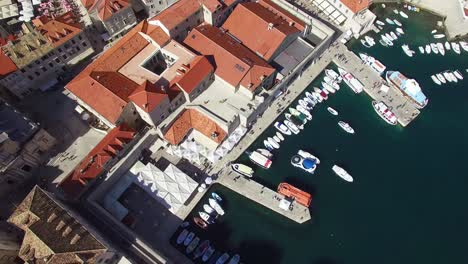 Aerial-tilt-up-view-over-the-old-city-of-Dubrovnik-Croatia-1