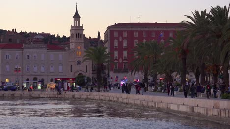 A-nice-sunset-view-of-the-city-of-Split-Croatia