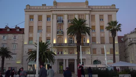 Establishing-shot-of-an-elegant-hotel-in-Split-Croatia