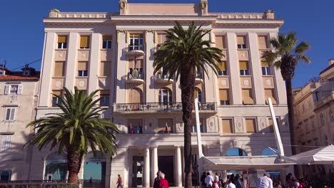 Daytime-establishing-shot-of-a-hotel-in-Split-Croatia