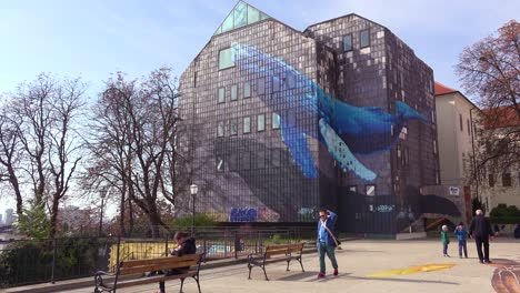 A-whale-mural-is-drawn-on-the-side-of-a-building-in-Zagreb-Croatia