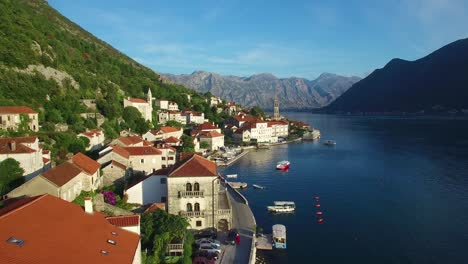 Stunning-vista-aérea-of-an-attractive-village-on-the-shores-of-Boka-Bay-Montenegro-3