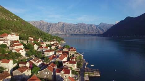 Stunning-vista-aérea-of-an-attractive-village-on-the-shores-of-Boka-Bay-Montenegro-4