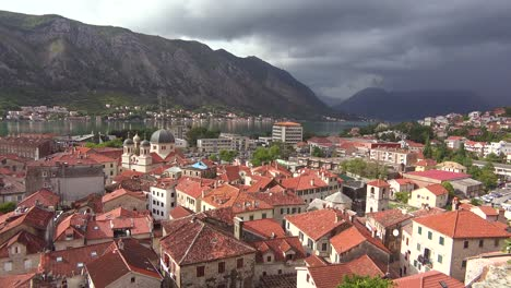 The-town-of-Kotor-on-the-shores-of-Boka-Bay-Montenegro-2