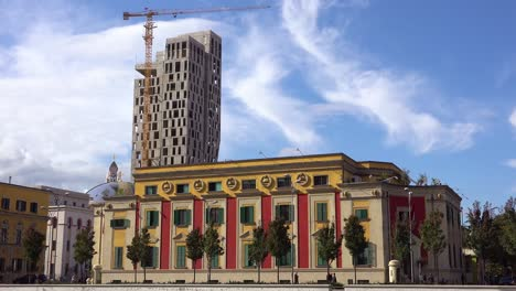 New-buildings-under-construction-in-downtown-Tirana-Albania-1