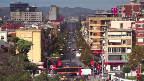 A-view-of-downtown-Tirana-Albania-streets-and-traffic