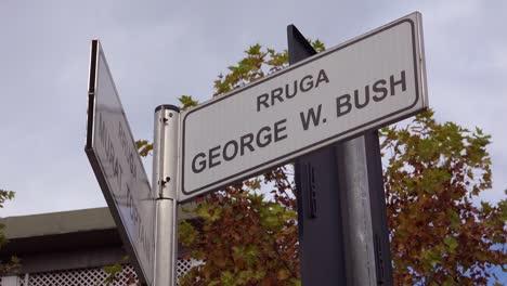George-W-Bush-Avenue-in-Tirana-Albania
