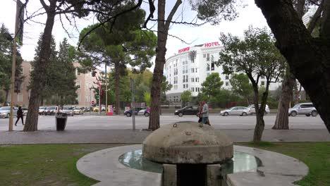Concrete-pillbox-bunkers-are-found-in-downtown-Tirana-Albania-2