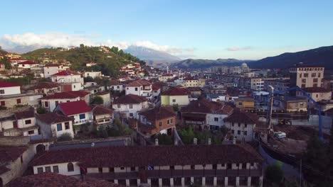 Beautiful-aerial-shot-over-Berat-Albania