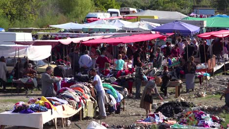 A-large-outdoor-flea-market-in-the-Alps-of-Albania