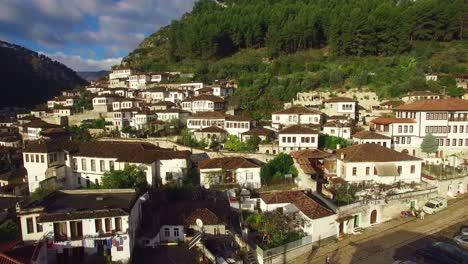 Good-aerial-shot-of-ancient-houses-in-Berat-Albania