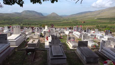 Nice-establishing-shot-of-a-cemetery-in-a-remote-region-of-Albania-1