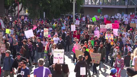Hundreds-of-thousands-marching-and-carrying-signs-to-protest-the-presidency-of-Donald-Trump-in-downtown-Los-Angeles-California-1