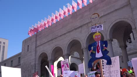 A-huge-protest-against-the-presidency-of-Donald-Trump-in-downtown-Los-Angeles-identifies-the-President-as-a-puppet-of-Putin