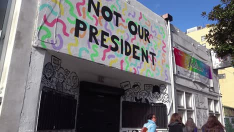 A-storefront-in-Los-Angeles-says-that-Donald-Trump-is-not-our-president