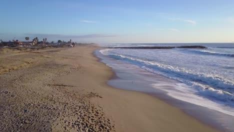 An-aerial-shot-over-a-California-beach