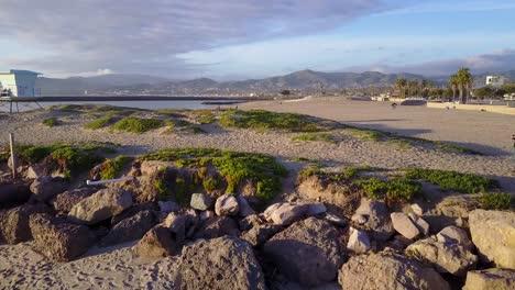 An-aerial-shot-over-a-California-beach-1