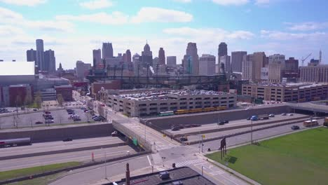 Aerial-shot-of-downtown-Detroit-Michigan-with-GM-tower-and-Ford-Field