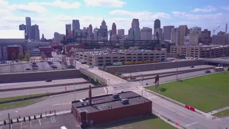 Aerial-shot-of-downtown-Detroit-Michigan-with-GM-tower-and-Ford-Field-1