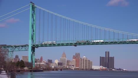 The-Detroit-River-Ambassador-Bridge-and-GM-tower-near-downtown-Detroit-Michigan-1