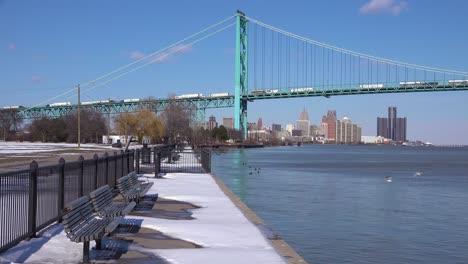 The-Detroit-River-Ambassador-Bridge-and-GM-tower-near-downtown-Detroit-Michigan-2