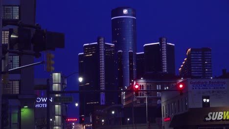 The-city-of-Detroit-Michigan-with-GM-tower-at-night