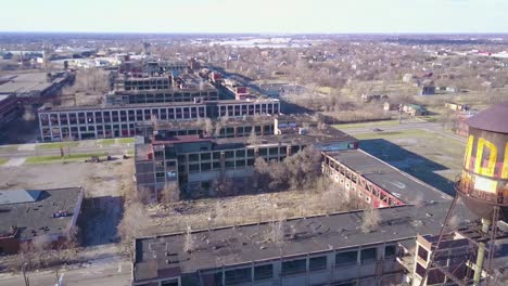 Amazing-aerial-over-the-ruined-and-abandoned-Packard-automobile-factory-near-Detroit-Michigan-2