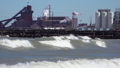 Waves-roll-in-near-a-highly-polluted-industrial-area-on-Lake-Michigan-near-Gary-Indiana