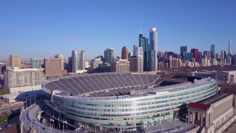 An-aerial-over-Chicago-s-Soldier-Field-and-skyline-2