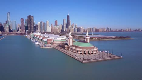 A-beautiful-daytime-aerial-around-Navy-Pier-in-Chicago-with-the-city-skyline-background-3