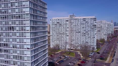 Aerial-around-apartment-blocks-in-suburban-South-Chicago