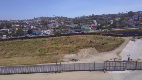 An-aerial-over-the-border-wall-fence-separating-the-US-from-Mexico-and-San-Diego-from-Tijuana