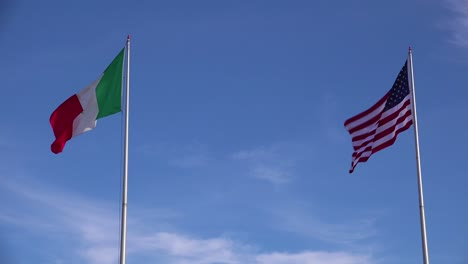 The-Mexican-flag-flies-beside-the-American-flag-along-the-US-border-in-Tijuana