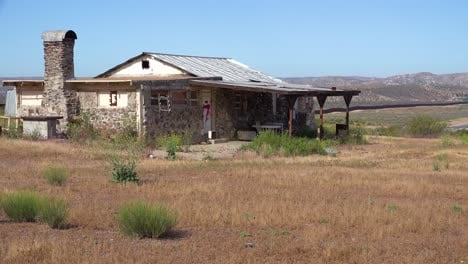 An-abandoned-house-stands-near-the-US-mexico-border
