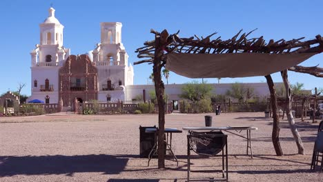 A-beautiful-establishing-shot-of-Mission-San-Xavier-del-Bac-a-historic-Spanish-Catholic-mission-near-Tucson-Arizona-2