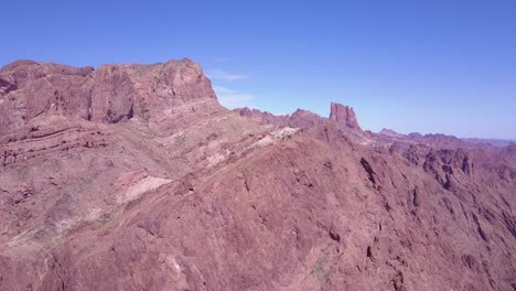 An-aerial-over-the-barren-and-high-peaks-of-the-Sonoran-Desert-in-Arizona