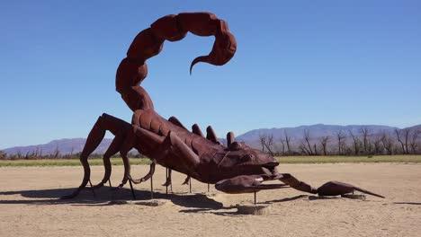 A-giant-scorpion-sculpture-in-the-desert-near-Borrego-Springs-California