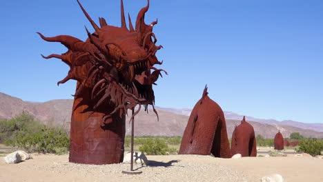 A-giant-metal-dragon-sculpture-in-the-desert-near-Borrego-Springs-California