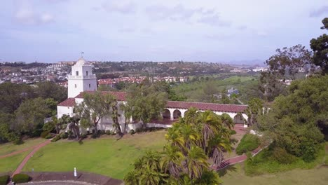 Aerial-over-the-San-Diego-Spanish-Mission-1