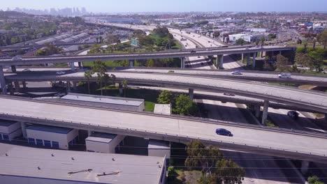 A-good-aerial-over-a-vast-freeway-interchange-near-San-Diego-California