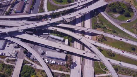 An-excellent-aerial-over-a-vast-freeway-interchange-near-Los-Angeles-California-2